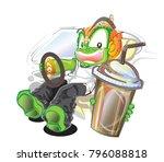 thai giant vector cartoon... | Shutterstock .eps vector #796088818