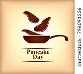 vector illustrations of pancake ... | Shutterstock .eps vector #796091236