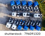 aerial drone view of parked... | Shutterstock . vector #796091320