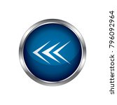 arrow icon  blue circle glossy... | Shutterstock .eps vector #796092964