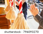 people who worship at temples... | Shutterstock . vector #796093270