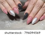 sexy manicure on long nails on... | Shutterstock . vector #796094569