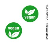 icon for vegan food  vegan... | Shutterstock .eps vector #796096348