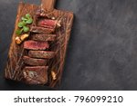 closeup ready to eat steak new... | Shutterstock . vector #796099210
