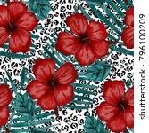 watercolor seamless pattern... | Shutterstock . vector #796100209
