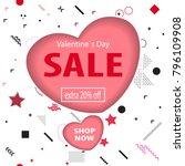 valentines day sale background. ... | Shutterstock .eps vector #796109908