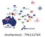 australia and oceania region... | Shutterstock .eps vector #796112764