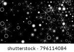 white snowflakes on black...   Shutterstock .eps vector #796114084