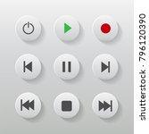 symbol icon set media player... | Shutterstock .eps vector #796120390