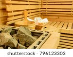 sauna room with traditional... | Shutterstock . vector #796123303