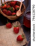 fresh strawberry and strawberry ... | Shutterstock . vector #796128790