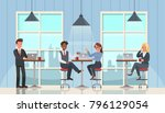 business people working and... | Shutterstock .eps vector #796129054