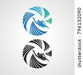 logo swimmer icon element... | Shutterstock .eps vector #796132090