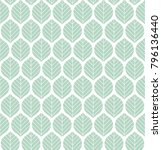 geometric leaves vector... | Shutterstock .eps vector #796136440