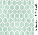geometric leaves vector... | Shutterstock .eps vector #796136440