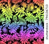 tropical plants pattern   Shutterstock .eps vector #796136713