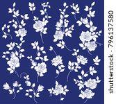 rose flower illustration  | Shutterstock .eps vector #796137580