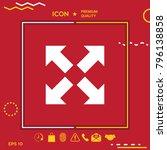 extend  resize icon. cross... | Shutterstock .eps vector #796138858