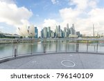 modern buildings near marina... | Shutterstock . vector #796140109
