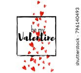 valentines day card with red... | Shutterstock .eps vector #796140493