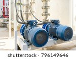 water pump station and pipeline ... | Shutterstock . vector #796149646