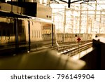 train departing from the... | Shutterstock . vector #796149904