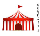 circus tent isolated  vector... | Shutterstock .eps vector #796150390