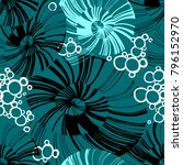 pinstripe sea shell. curl... | Shutterstock .eps vector #796152970