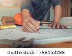 engineer and architect concept  ... | Shutterstock . vector #796153288