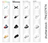 air transport aircraft ... | Shutterstock .eps vector #796157974