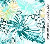 pinstripe sea shell. curl... | Shutterstock .eps vector #796162120