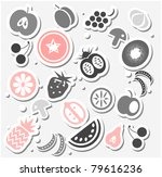 various fruits and vegetables... | Shutterstock .eps vector #79616236