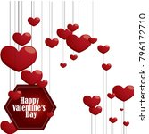 design of valentine day... | Shutterstock .eps vector #796172710