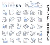 set of vector line icons  sign... | Shutterstock .eps vector #796173106