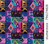 tribal pattern. ethnic print.... | Shutterstock .eps vector #796174828