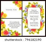 romantic invitation. wedding ... | Shutterstock .eps vector #796182190