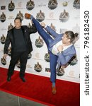 Small photo of Alain Moussi and Dimitri Logothetis at the Los Angeles premiere of 'Kickboxer: Retaliation' held at the ArcLight Cinemas in Hollywood, USA on January 17, 2018.
