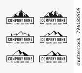 mountain logo designs vector... | Shutterstock .eps vector #796183909