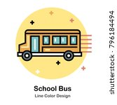 school bus line color icon | Shutterstock .eps vector #796184494