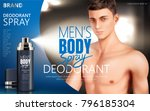 deodorant spray ads  body spray ... | Shutterstock .eps vector #796185304
