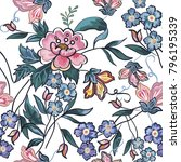 beautiful seamless flower...   Shutterstock .eps vector #796195339