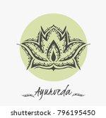 ayurveda illustration. sketch   Shutterstock .eps vector #796195450
