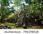 historic building in angkor wat ... | Shutterstock . vector #796198528