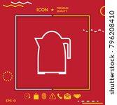 kitchen kettle linear icon | Shutterstock .eps vector #796208410