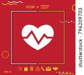 heart medical icon   Shutterstock .eps vector #796209703