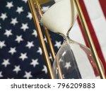 government shutdown  hourglass... | Shutterstock . vector #796209883
