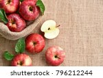 fresh many gala apple with... | Shutterstock . vector #796212244