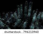 cityscape futuristic 3d city... | Shutterstock . vector #796213960