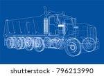 european truck outlined vector... | Shutterstock .eps vector #796213990