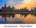 ruins of the temple of wat... | Shutterstock . vector #796216843